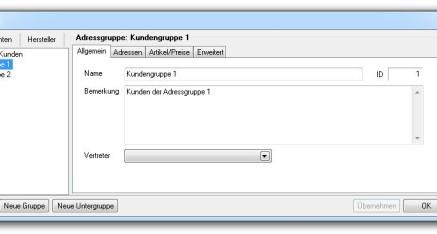 Abb.01: Fenster Adressgruppen - Registerkarte Allgemein