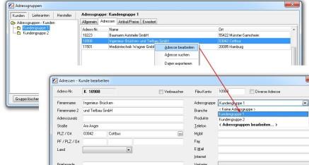 Abb.07 Fenster Adressgruppen - Popup-Dialog - Adresse bearbeiten