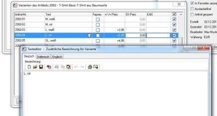 Abb.06: Beschreibung für Attributkombinationen bearbeiten