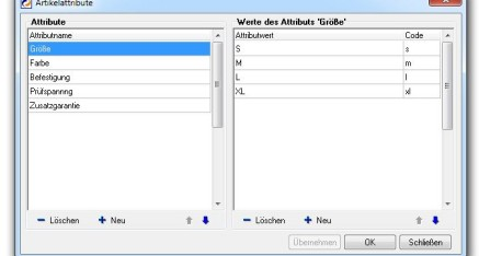 Abb.01: Fenster Artikelattribute