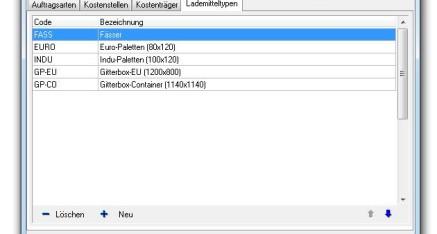 Abb.02: Fenster Stammdaten - Sonstige - Lademitteltypen
