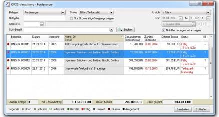 Abb.01: Fenster OPOS-Verwaltung