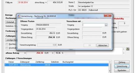 Abb.04: OPOS bearbeiten - Verrechnung mit Verbindlichkeiten