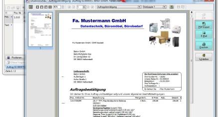 Abb.03 Fenster Vortext / Nachtexte des Auftrags editieren