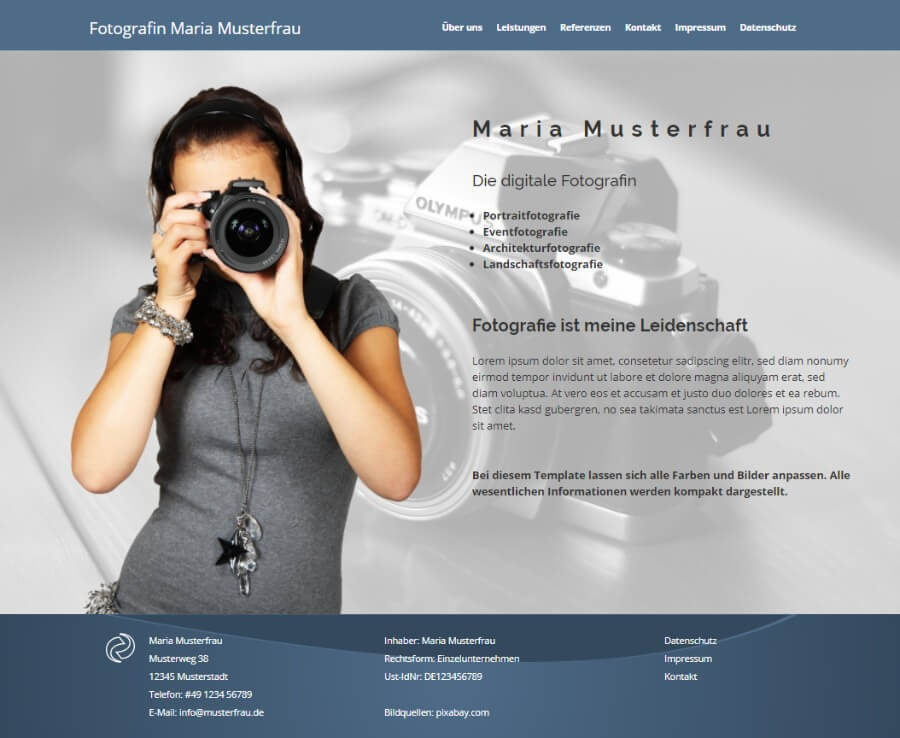 Web Visitenkarten Centaso Webdesign